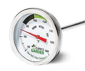 Cate's Garden Premium Stainless Steel Bimetal Thermometer