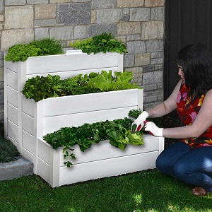 Cascading Keyhole Composting Garden Bed
